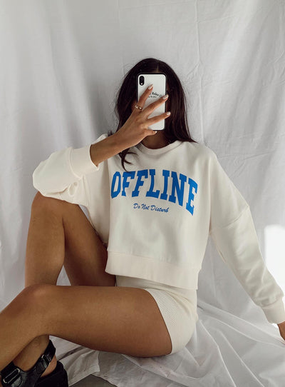 Offline Cropped Jumper Cream
