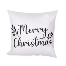 "Load image into Gallery viewer, Dark Grey ""Merry Christmas"" Pillow Cover"