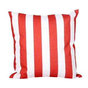 Muted Red Striped Pillow Cover
