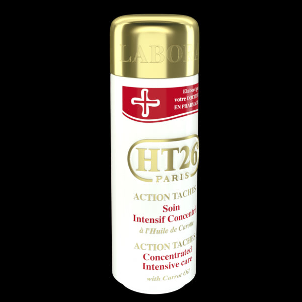 HT26 PARIS - Intensive Concentrated body lotion with carrot oil (GOLD): unify complexion ,relieve dryness. / Lait action taches à l'huile de carotte - HT26.CA : Scientists Devoted to Black Beauty