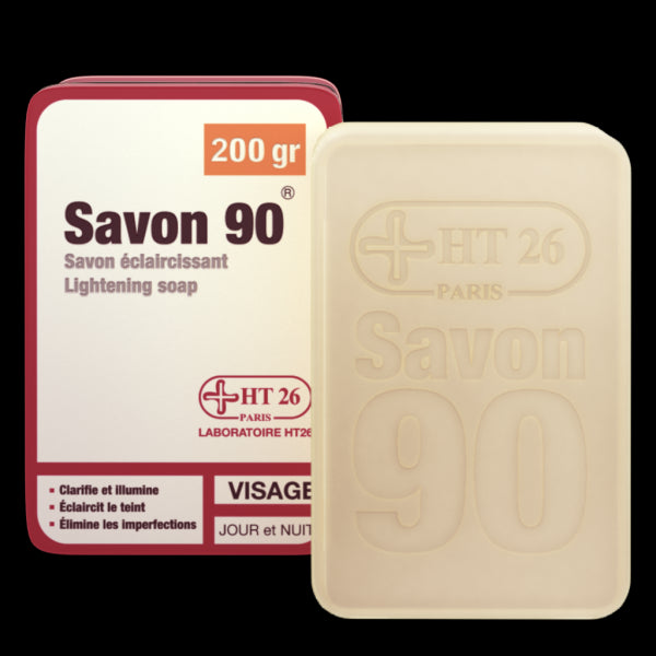 HT26 - Gamme 90 Acne solutions - Lightening Soap 200gr - HT26.CA : Scientists Devoted to Black Beauty