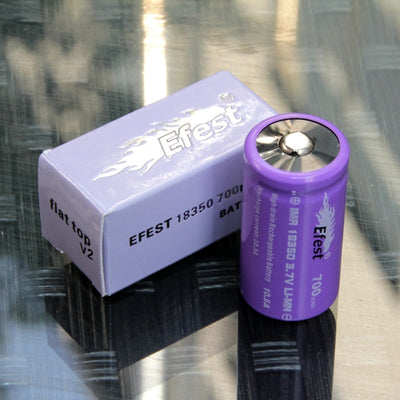 Efest 18650 IMR 2500mAh 35A Flat Battery 2 pack