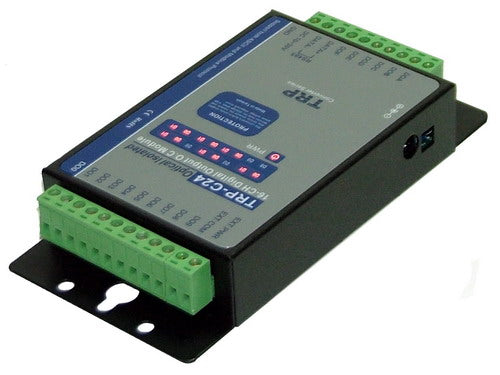 Trycom TRP-C24, TRP-C24. An isolated output open collector RS-485 module, provides 16 digital outputs channels that allow you output open collector signal (100mA) to driven your devices on RS-485 network. All channels feature screw terminals for convenient connection of field signals as well as LED's to indicate channel working status.