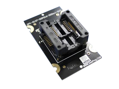 Dediprog SPI 127 SOP016 300mil 01FE, SPI-127-SOP016-300mil-01FE. 16-pin SOP opentop adapter. To be used with Dediprog Programmers.