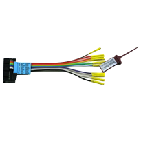 Dediprog Split Cable, EM-SP-CB. The 10-Pin Split Cable has a 10 pin header which can be connected to the Serial Flash Emulator (EM100 or EM100Pro) and SF600 programmer directly. Each individual split cable has a different color and is labelled with the pin name so that they are easy to identify