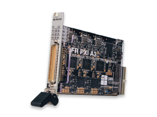 SMH FlashRunner FRPXIA3, FRPXIA3. FlashRunner FRPXIA3 is the brand new PXI module for Gang ISP, In System Programming. FlashRunner PXI is based on FlashRunner technology, the fast and reliable programming system for Flash-based microcontroller and serial memories.