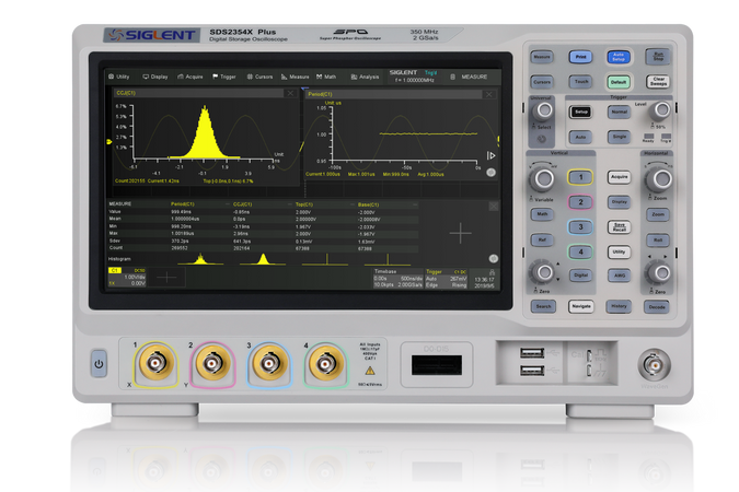 Siglent SDS2000X Plus Series, SDS2102X+. SIGLENT's SDS2000X Plus is a four model series of digital storage oscilloscopes available up to 4 analog channels + 16 digital channels (optional) with mixed signal analysis ability.