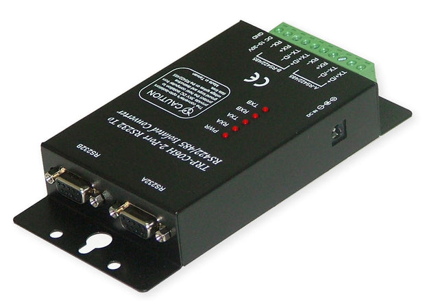 Trycom TRP-C06H, TRP-C06H. The TRP-C06H allows 2 RS232 line signal to be bi-directionally converted to RS-422 or RS-485 standard and transmit data up to 1.2KM. Featuring automatic data format and baud rate detect function users just need to plug the unit and go without extra configuration efforts.