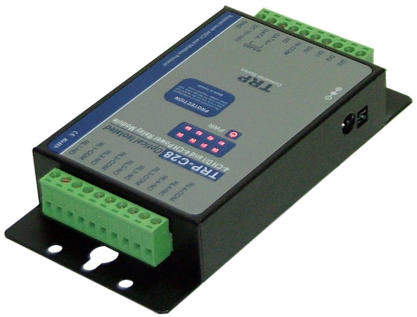 Trycom TRP-C28, TRP-C28. A 4 channels isolated digital input with 4 channels power relay output RS-485 module.