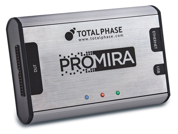 Total Phase Promira Serial Platform, TP500110+I2C1+SPI1. Start building your own embedded development system with the Promira state-of-the-art hardware. Integrated level shifting, high-speed USB/Ethernet communication and 200 mA of power supported. Add any application product to enhance the functionality of the platform like SPI level 1, 2 and 3.