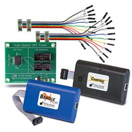 Total Phase SPI Development Kit, TP120212. This comprehensive and cost-effective kit bundles together a complete set of Total Phase's industry-leading SPI development tools and popular accessories. Experience how easy it can be to exercise target devices, simulate an SPI master or slave device, program and verify SPI-based memory devices, or monitor an SPI bus in true real-time.