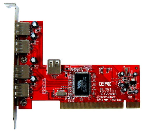 Total Phase USB 2.0 5-port PCI Card, TP320810. The USB 2.0 5-port PCI card provides an additional USB 2.0 host controller for your desktop computer to help facilitate the operation and capture of USB data from the same computer.