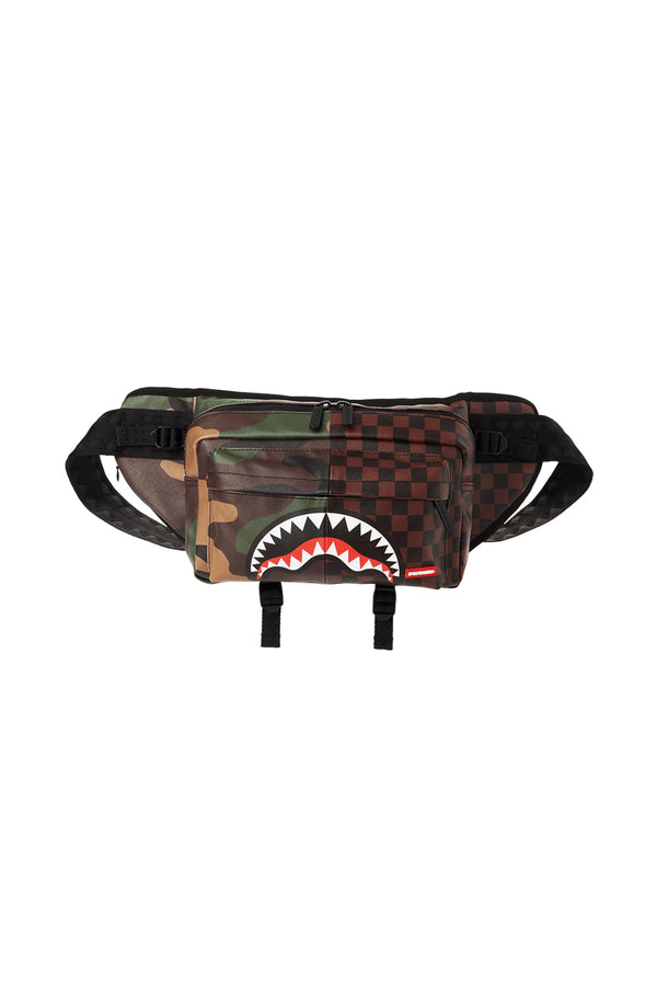 SPRAYGROUND  marsupio split checkred camo doubleside cargo