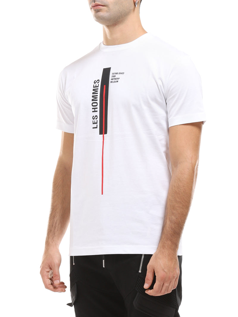 LES HOMMES T-SHIRT GIROCOLLO CON STAMPA