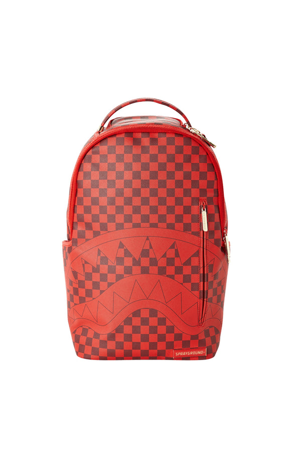 SPRAYGROUND ZAINO SHARK IN PARIS CHECHERED RED