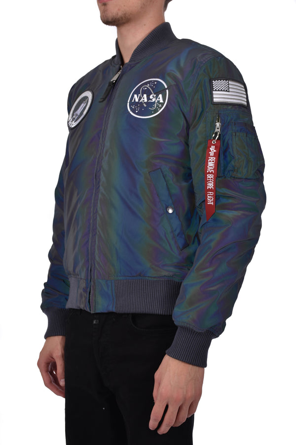 ALPHA INDUSTRIES BOMBER MA-1 VF NASA RAINBOW REF
