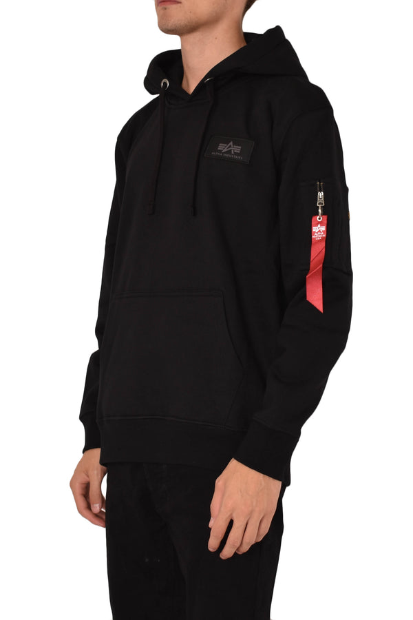 ALPHA INDUSTRIES FELPA CON CAPPUCCIO BACK PRINT REFLECTIVE