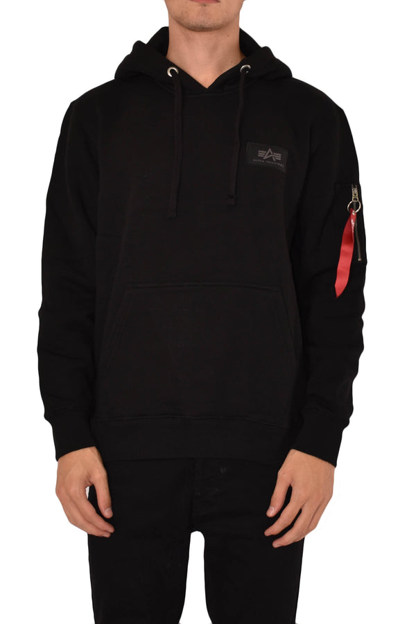 ALPHA INDUSTRIES FELPA CON CAPPUCCIO BACK PRINT