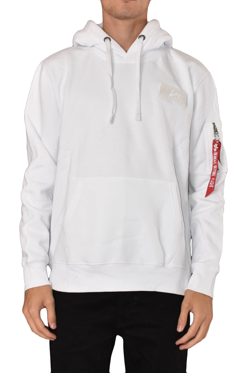 ALPHA INDUSTRIES FELPA CON CAPPUCCIO RED STRIPE