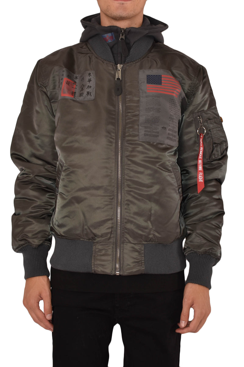 ALPHA INDUSTRIES BOMBER MA-1 D-TEC BLOOD CHIT