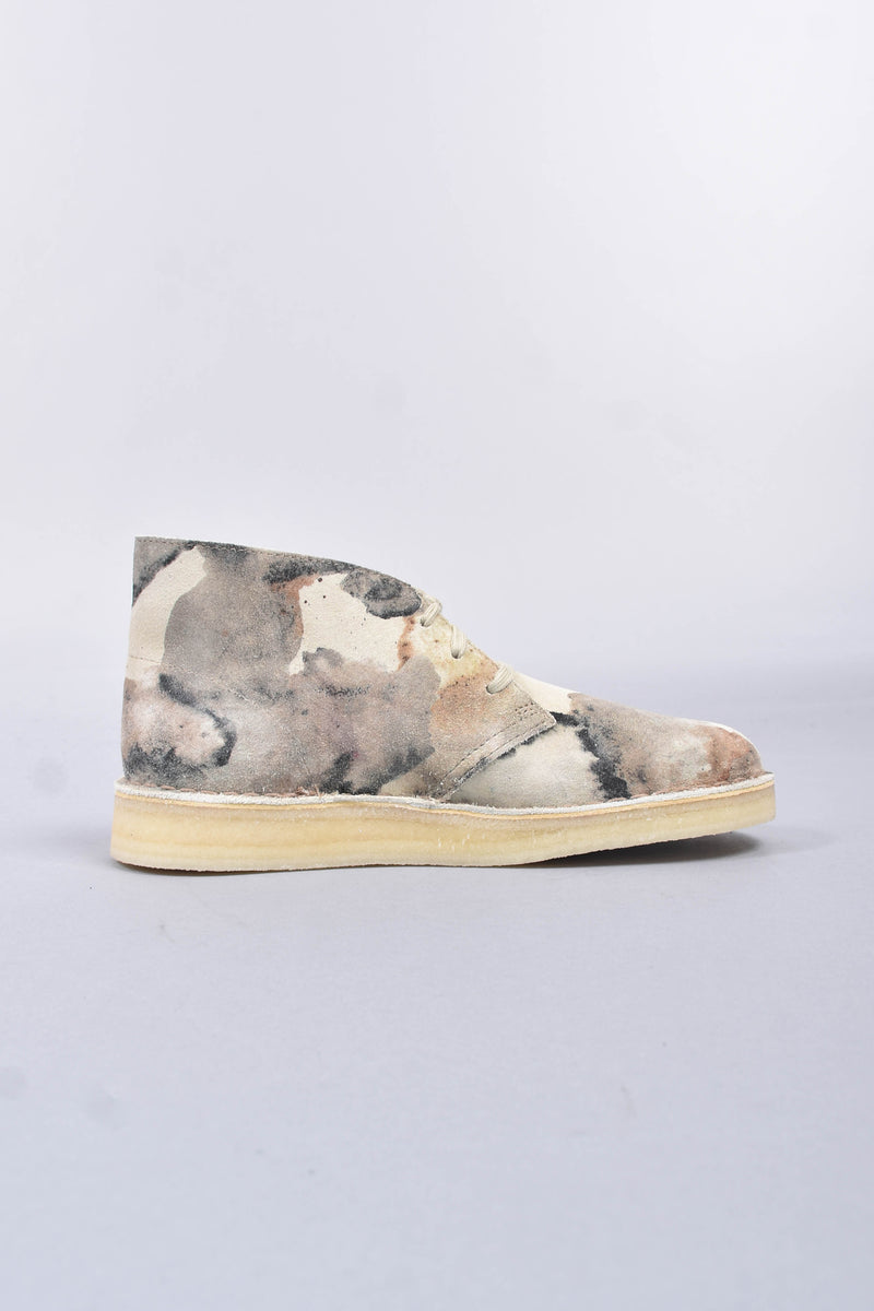 CLARKS Mocassini desert coal in camoscio