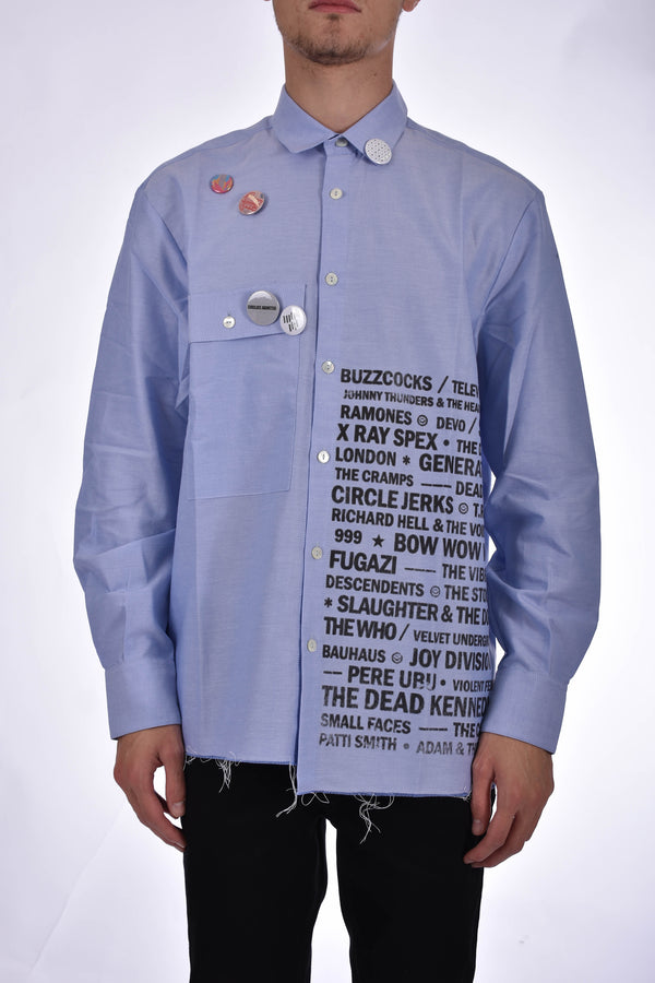 CORELATE CAMICIA PRINTED WRITINGS