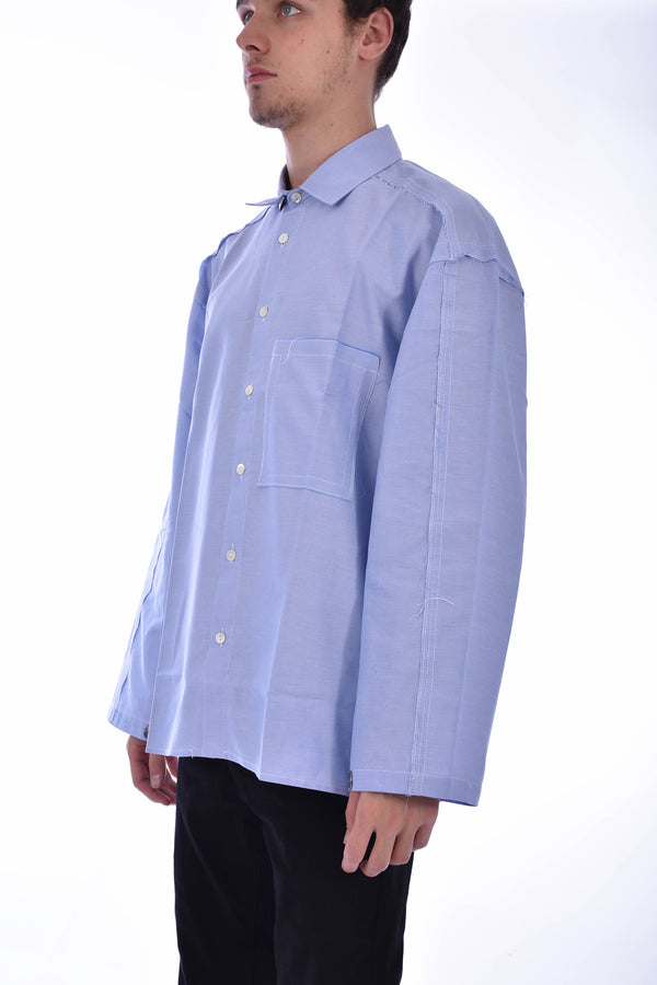 CORELATE CAMICIA DECOSTRUCTED RAW-CUT