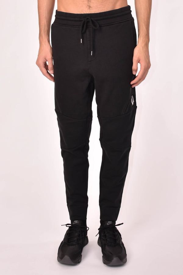 C.P. COMPANY PANTALONI IN FELPA DIAGONAL RAISED FLEECE ZIP POCKET