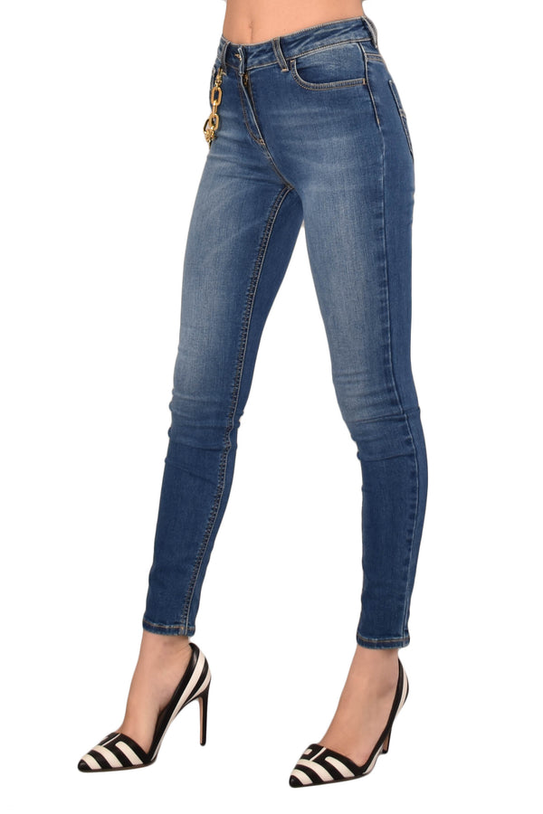 ELISABETTA FRANCHI JEANS SKINNY CON CHARMS