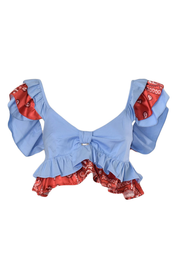 GIULIA N COUTURE CROP TOP