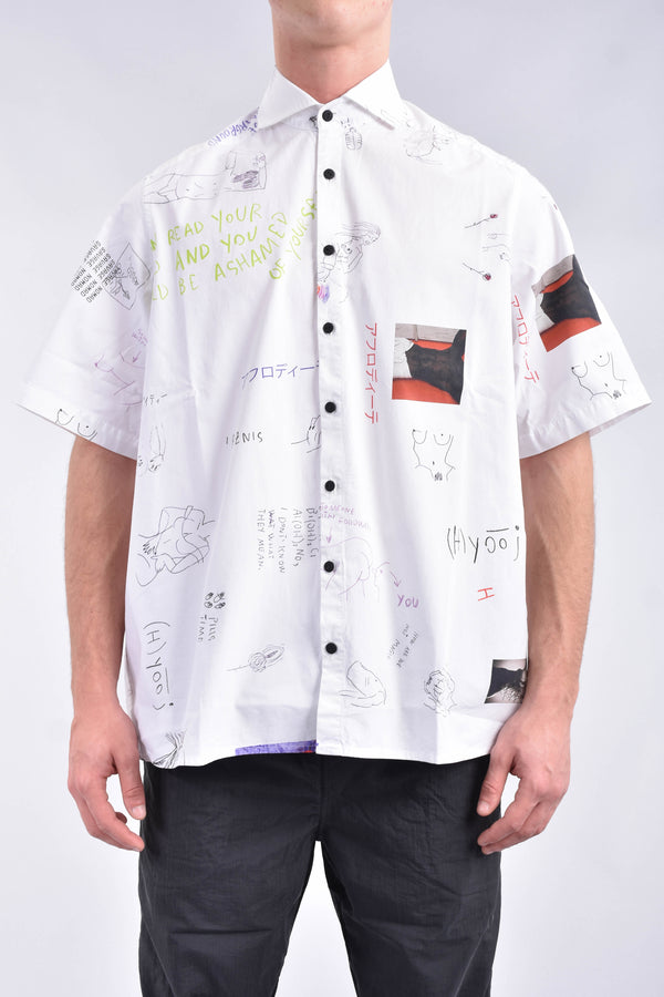 HUGE UNDERGROUND Camicia all over sketch print