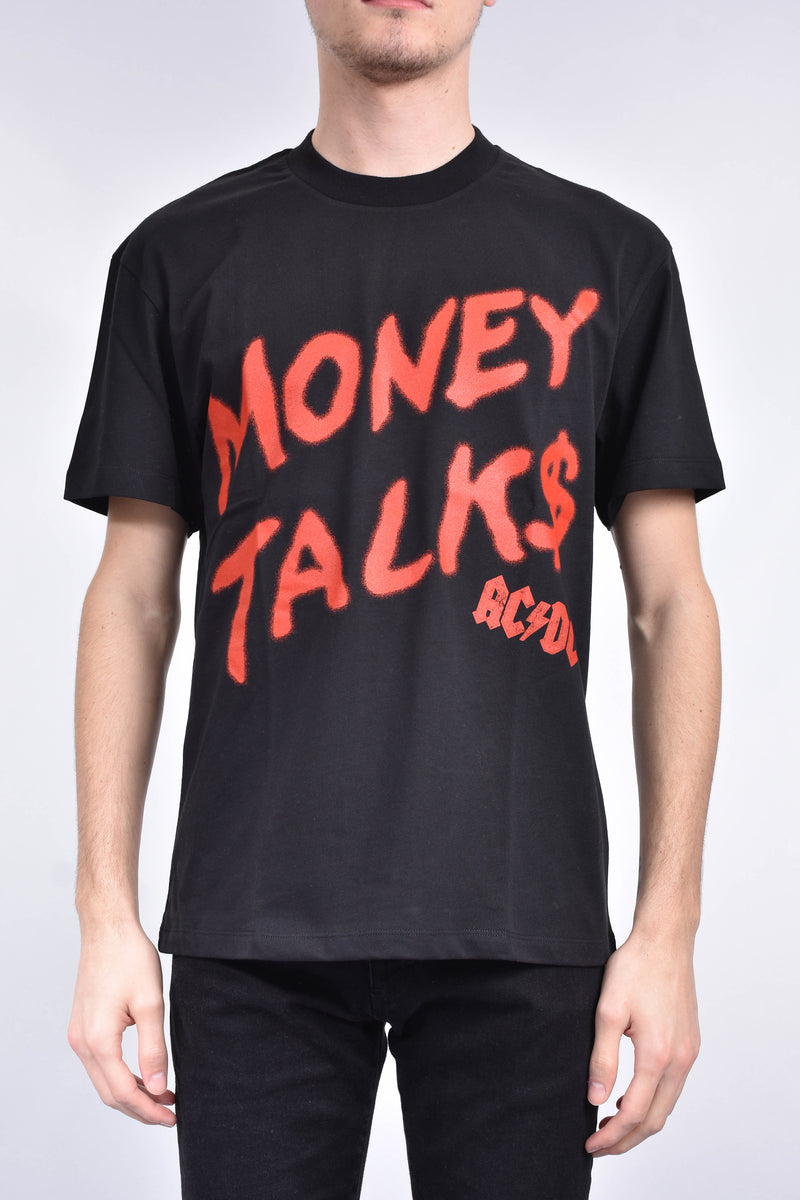 IH NOM UH NIT T-shirt ac/dc money talks spray on front and logo
