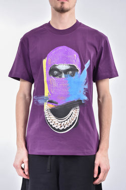 IH NOM UH NIT T-shirt whit mask painted on front and logo
