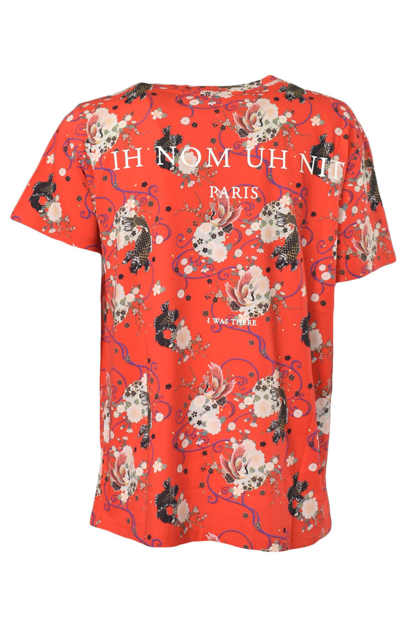 IH NOM UH NIT T-SHIRT FUTURE ARCHIVE RED GARDEN ALL OVER PRINT