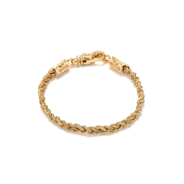 EMANUELE BICOCCHI TINY GOLD BRAIDED BRACELET