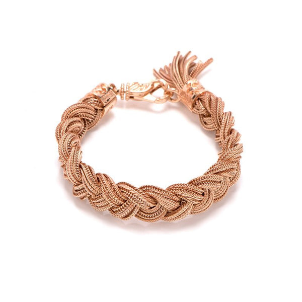 EMANUELE BICOCCHI ROSE GOLD PLATED BRAIDED BRACELET