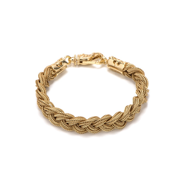 EMANUELE BICOCCHI GOLD PLATED BRAIDED BRACELET