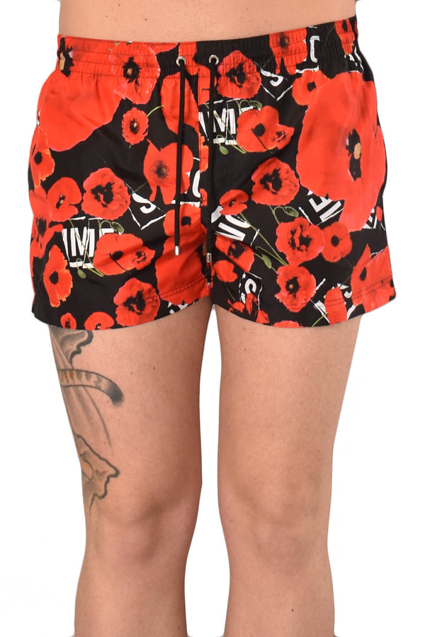 LES HOMMES COSTUME ALLOVER POPPIES PRINT