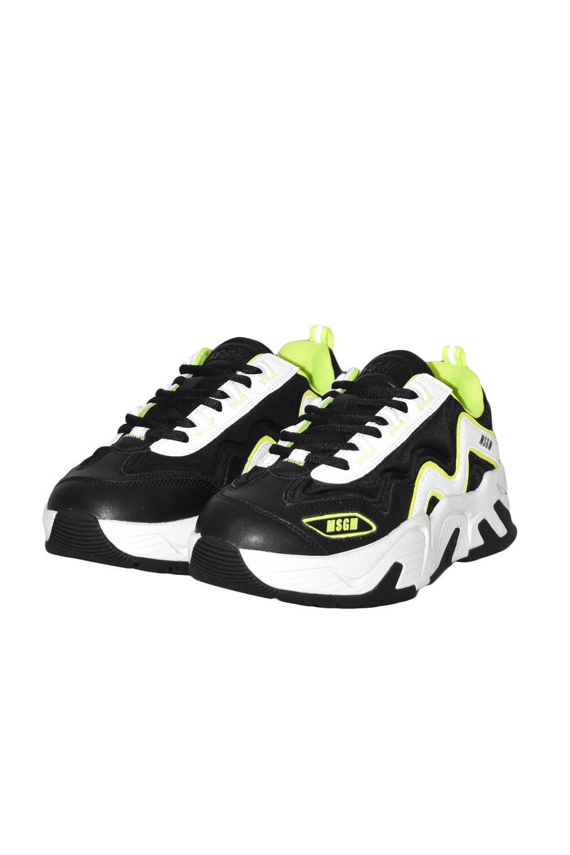 MSGM SNEAKERS ATTACK IN PELLE