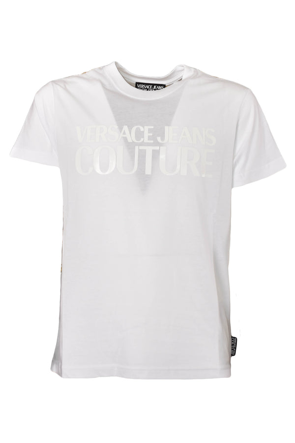 VERSACE JEANS COUTURE T-SHIRT CON STAMPA BAROCCA