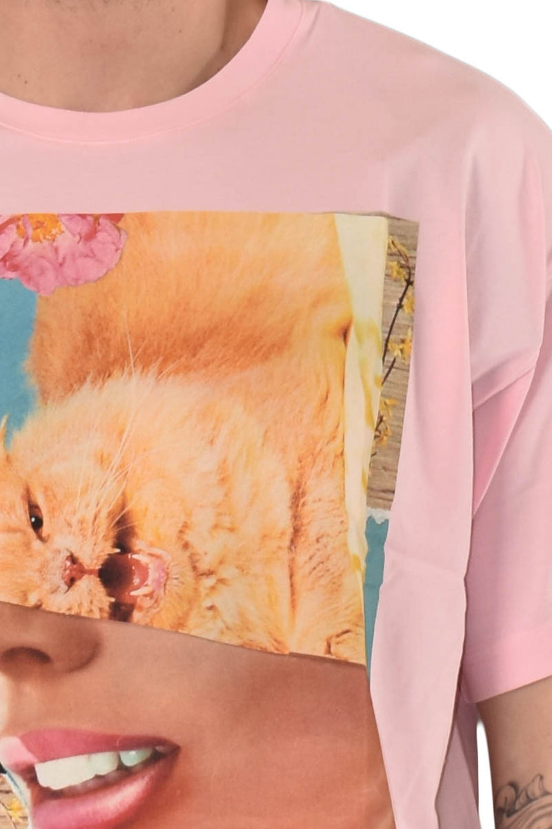 VERSACE JEANS COUTURE T-SHIRT STAMPA KITTY
