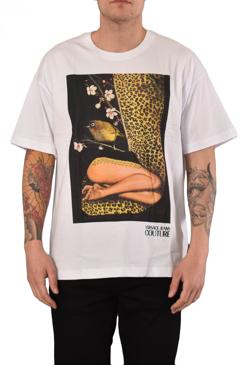 VERSACE JEANS COUTURE T-SHIRT STAMPA X ROSA BURGESS