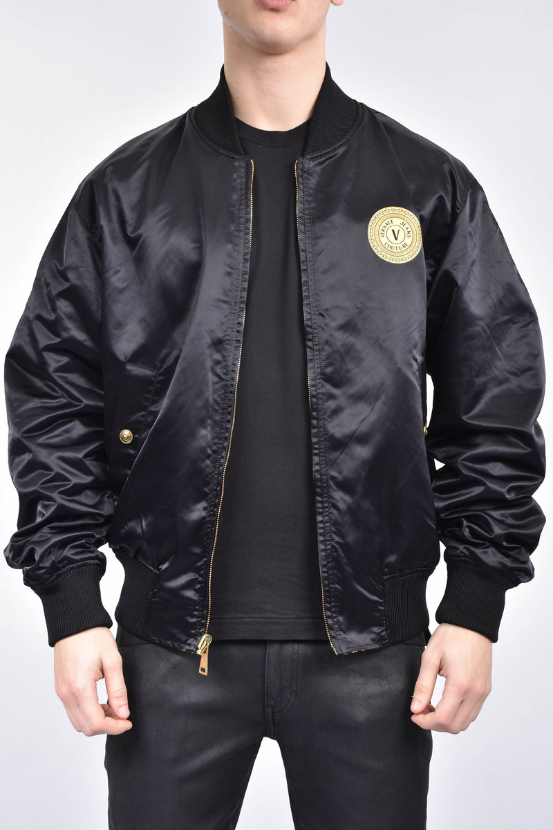 VERSACE JEANS COUTURE Bomber reversibile stampa barocca