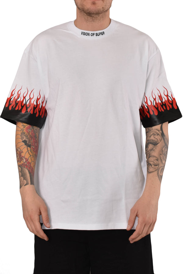 VISION OF SUPER T-SHIRT DOUBLE FLAME