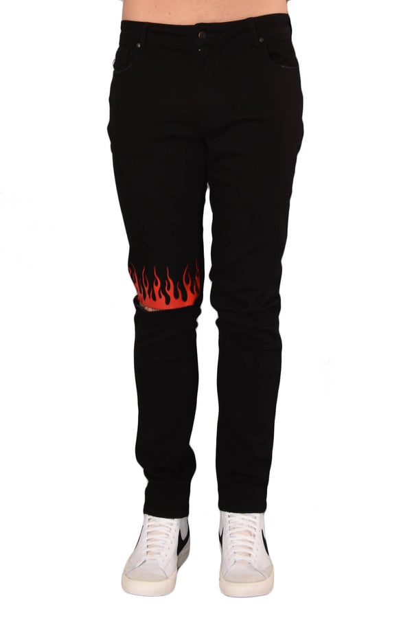 VISION OF SUPER JEANS SKINNY RED FLAME