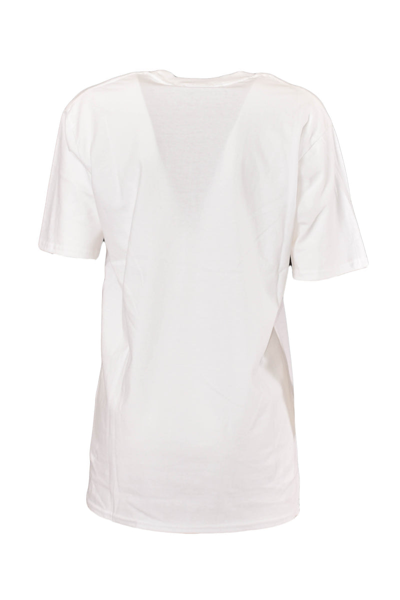 WHITE T-SHIRT MODELLO FAST FOOD