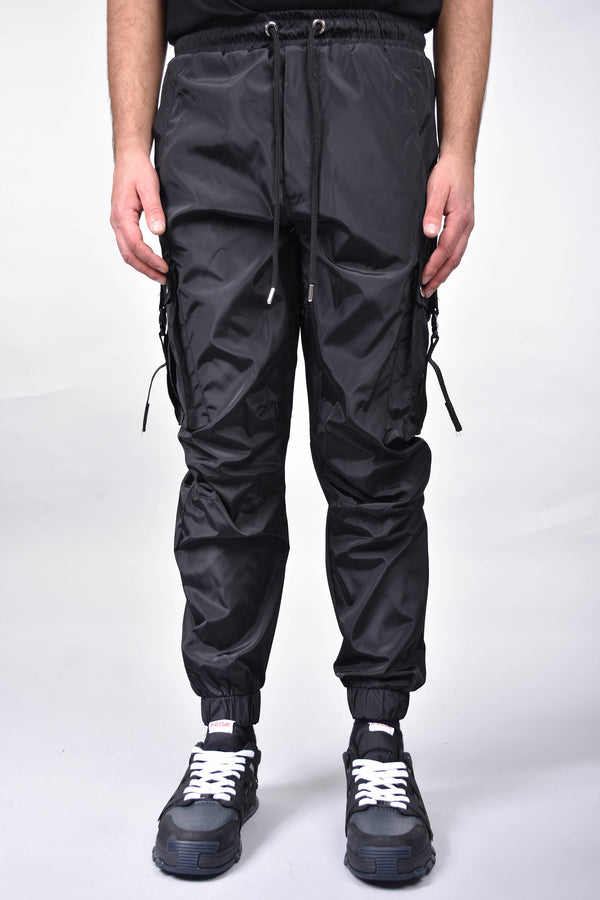 YES LONDON PANTALONI CARGO IN NYLON