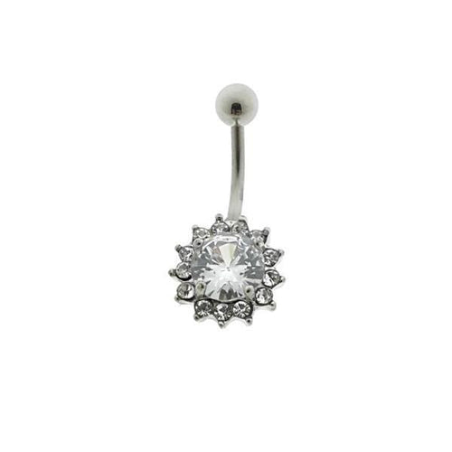 Navelpiercing-chirurgisch staal-transparant-1.6mm-10mm-10x13mm-navelpiercing-Bl!nk Jewels.nl