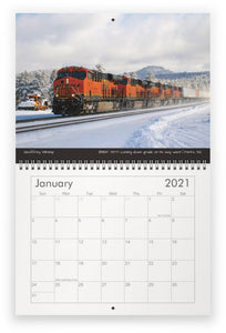 2021 Virtual Railfan Calendar