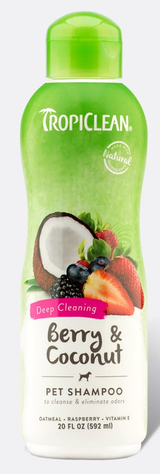 Tropiclean Berry Coconut Deep Cleaning Shampoo 20oz - 645095202153